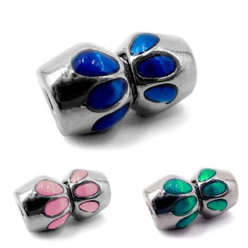 Rhodium Plated Magnetic Clasp with Coloured Design (3 Colours Available )